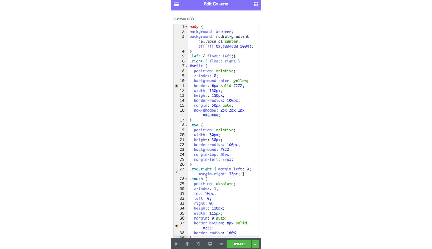 custom CSS The Plus Addons for Elementor