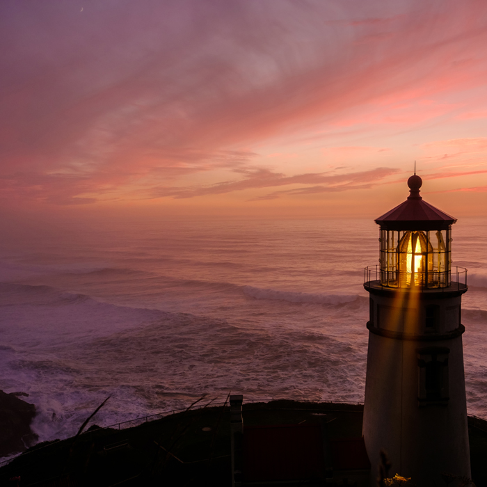 heceta head lighthouse at sunset The Plus Addons for Elementor