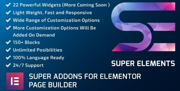 Super elements The Plus Addons for Elementor