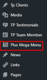 Mega menu post type The Plus Addons for Elementor