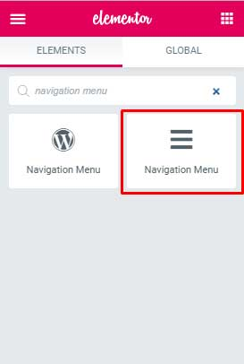 Navigation menu elementor The Plus Addons for Elementor