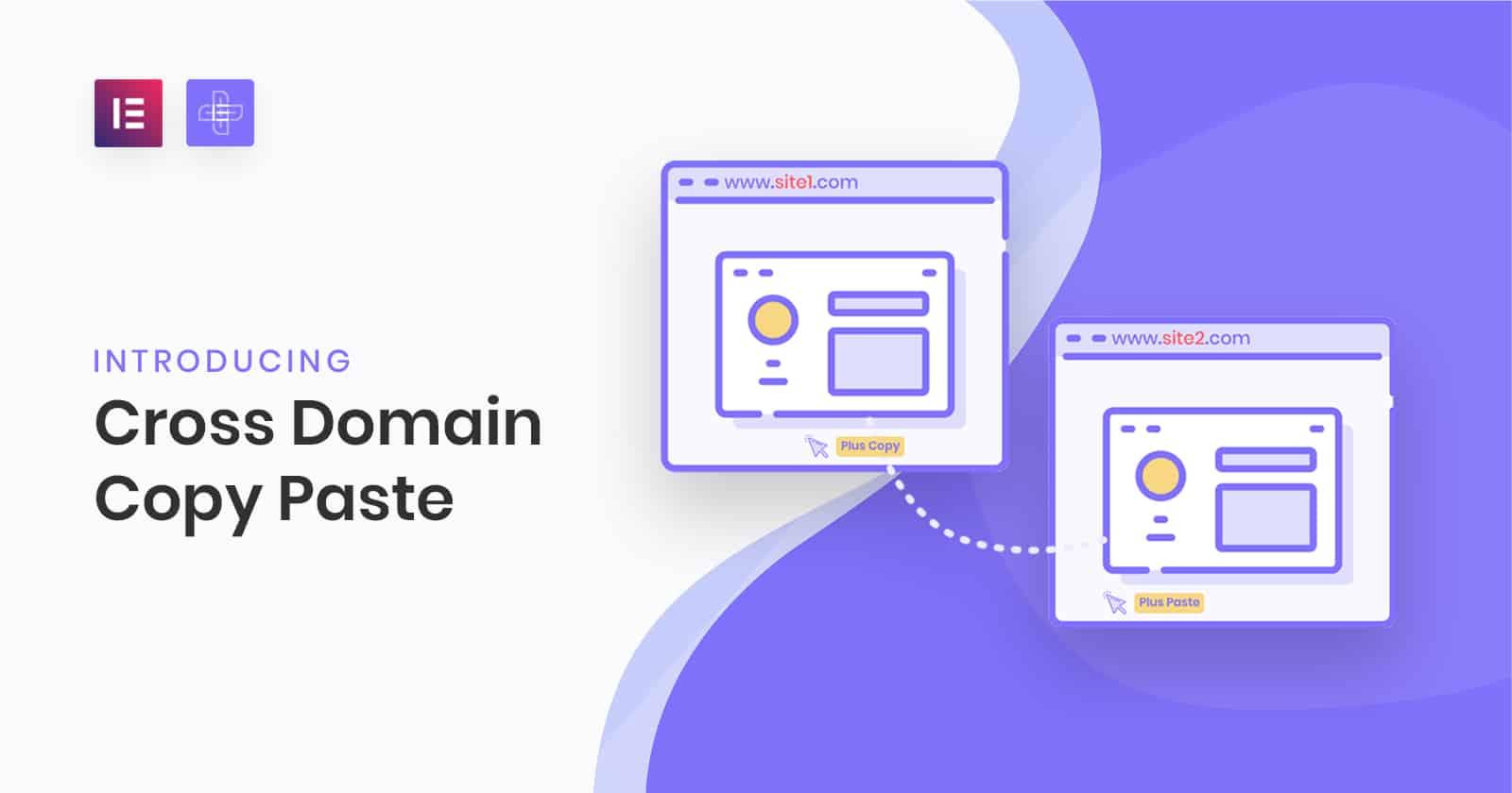 Cross Domain Copy Paste og The Plus Addons for Elementor