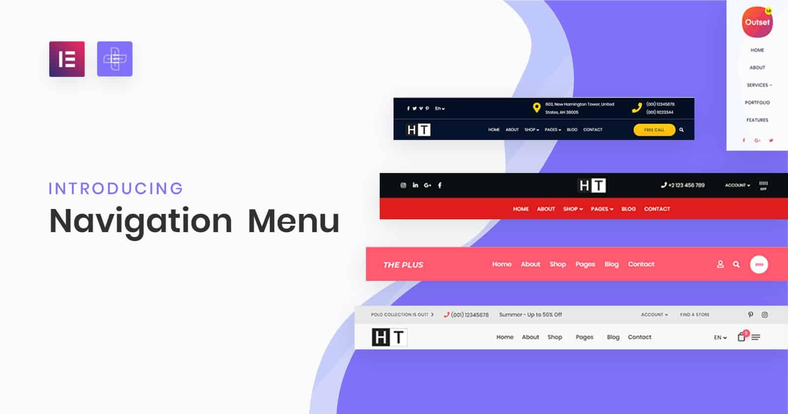 Header/Navigation Builder widget for elementor | The Plus Addons for Elementor