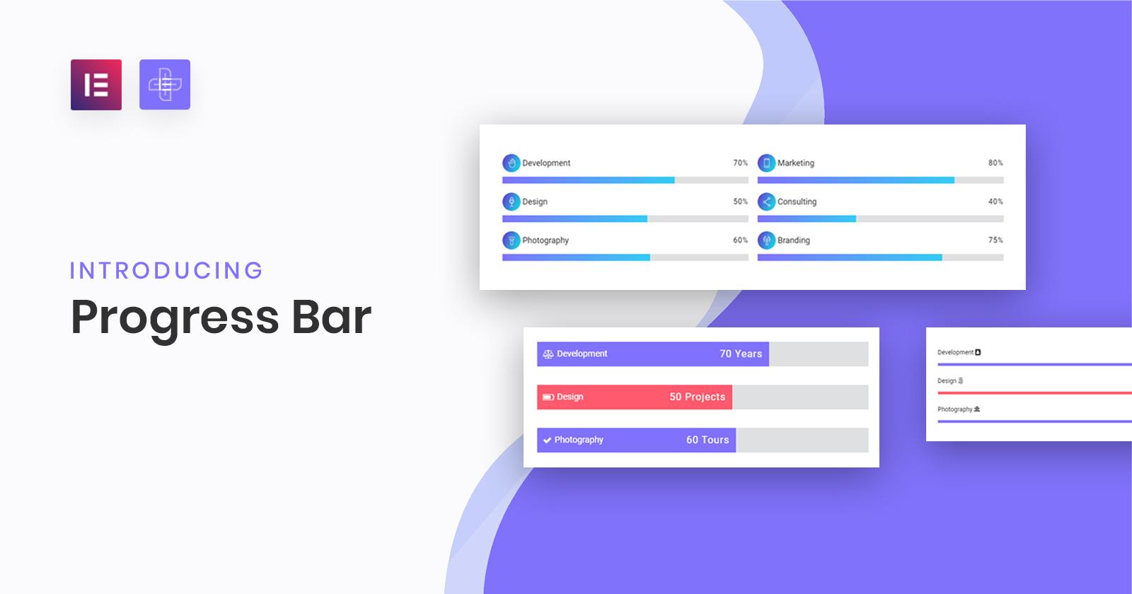 Progress Bar Widget for Elementor | The Plus Addons for Elementor