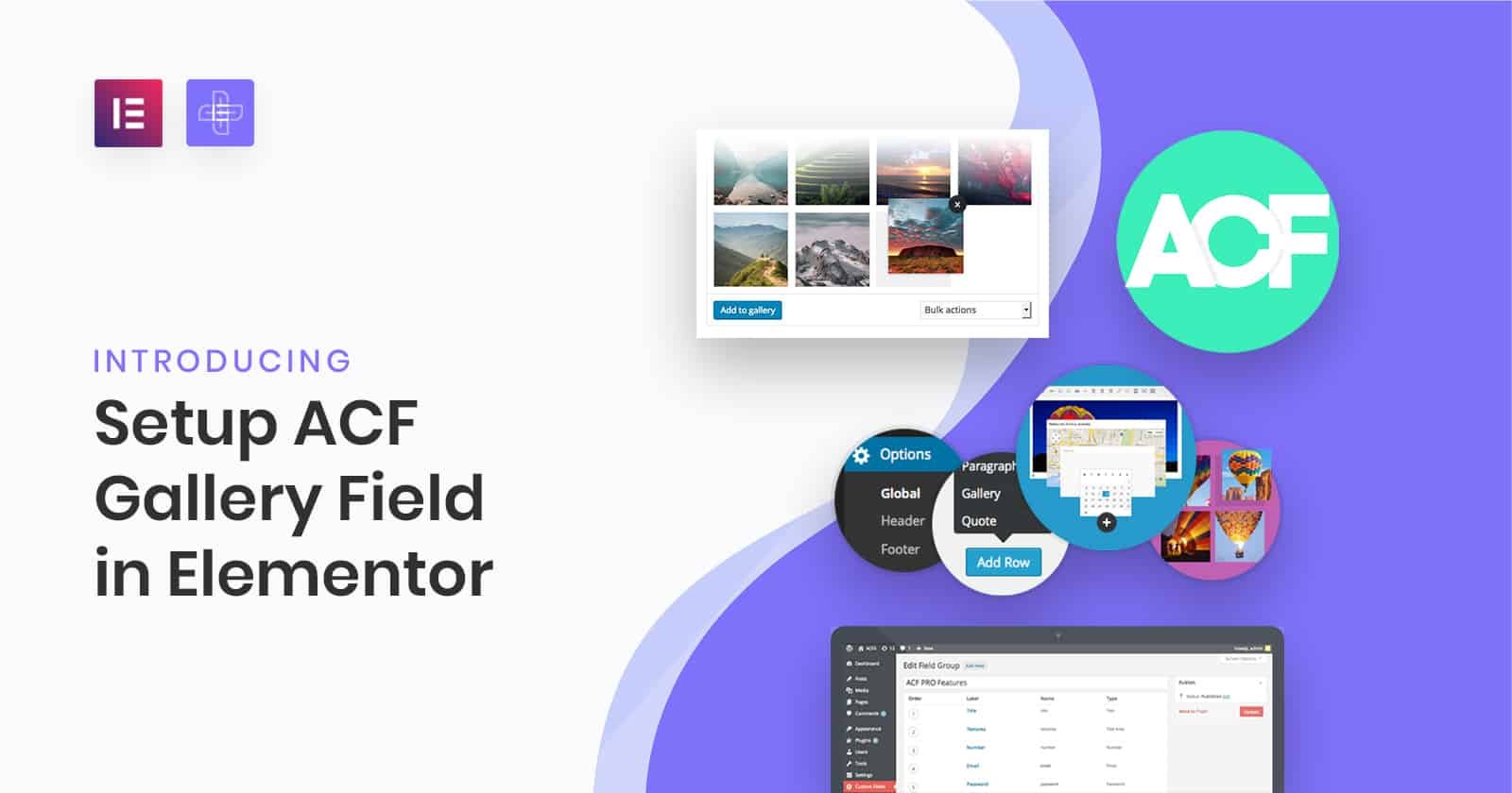 Setup ACF Gallery Field in elementor The Plus Addons for Elementor