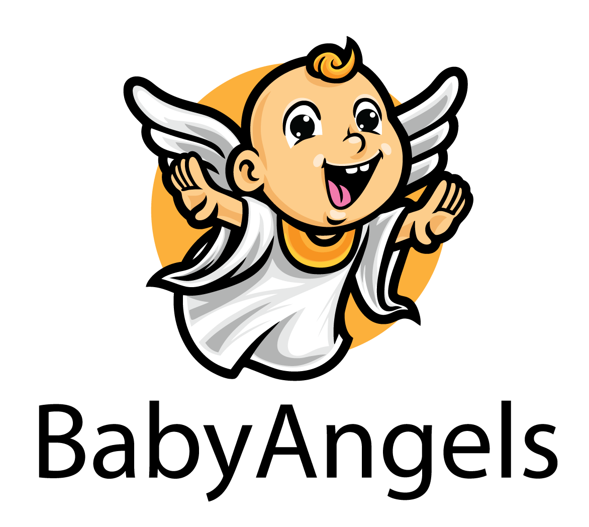 Baby Angel Vector Logo Mascot The Plus Addons for Elementor